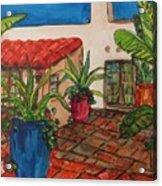 Courtyard In Rancho Santa Fe Acrylic Print