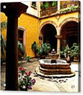 Courtyard Off The Cafe Acrylic Print