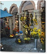 Courtyard Shop Acrylic Print