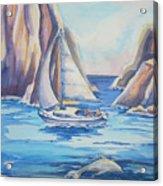 Cove Sailing Acrylic Print