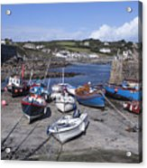 Coverack Harbour Cornwall Acrylic Print