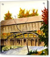 Covered Bridge - Mill Creek Park Acrylic Print