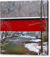Covered Bridge Along The Wissahickon Creek Acrylic Print