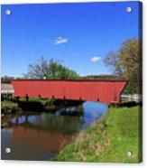 Covered Bridge And Reflection Acrylic Print