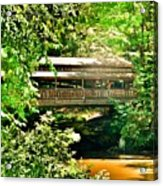 Covered Bridge At Lanterman's Mill Acrylic Print