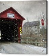 Covered Bridge In Logan Mills Acrylic Print