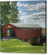 Covered Bridge In Ohio Acrylic Print by Pamela Baker
