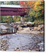 Covered Bridge Over The Swift River  Acrylic Print