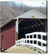 Covered Bridge Pa Acrylic Print