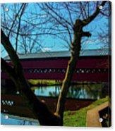 Covered Bridge Vivid Afternoon Acrylic Print