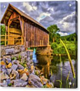 Covered Bridge, Vt Acrylic Print