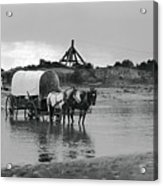 Covered Wagon River Ford And Cable Ferry 1903 Acrylic Print