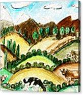 Cow Land Acrylic Print