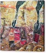 Cow Legs On Carpets Acrylic Print