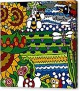 Cowbirds Acrylic Print by Rojax Art