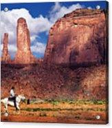 Cowboy And Three Sisters Acrylic Print