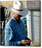 Cowboy.. Acrylic Print