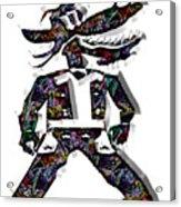 Cowboy Cartoon Art Acrylic Print