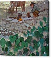 Cowboy Coffeebreak Acrylic Print