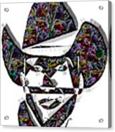 Cowboy Colorful 47 Acrylic Print