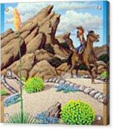Cowboy Concerns Acrylic Print