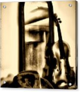 Cowboy Hat And Fiddle Acrylic Print
