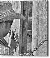 Cowboy Life Acrylic Print