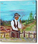 Cowboy On The Farm Acrylic Print