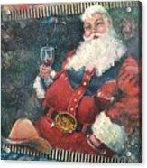 Cowboy Santa Acrylic Print