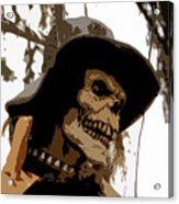 Cowboy Skeleton Acrylic Print