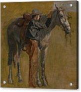 Cowboy - Study For Cowboys In The Badlands Acrylic Print