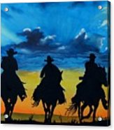 Cowboy  Sunset Acrylic Print by Stefon Marc Brown