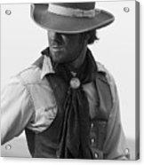 Cowboy Turning Acrylic Print