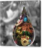 Cowboy Up In Raindrop Acrylic Print