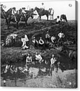 Cowboys Bathing Acrylic Print