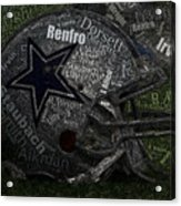 Cowboys Greatest Players Mosaic Acrylic Print