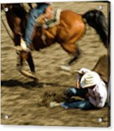 Cowboy's Grip Acrylic Print