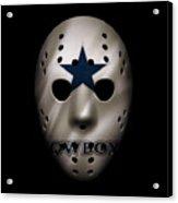 Cowboys War Mask 3 Acrylic Print
