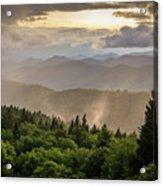 Cowee Mountains Sunset 2 Acrylic Print