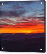 Cowee Sunset Acrylic Print