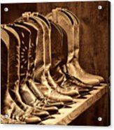 Cowgirl Boots Collection Acrylic Print