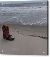 Cowgirl Day At Beach Acrylic Print