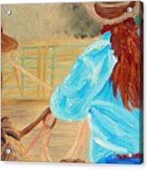 Cowgirl Roping Acrylic Print