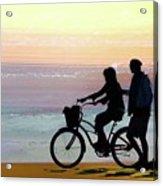 Cox Bay Bike Acrylic Print
