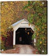Cox Ford Covered Bridge Acrylic Print