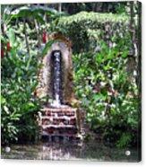 Coyaba Garden Ornamental Fountain Acrylic Print