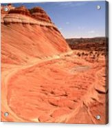 Coyote Buttes Swirling Sandstone Acrylic Print