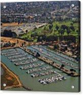 Coyote Point Marina San Francisco Bay Sfo California Acrylic Print