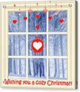 Cozy Christmas Card Acrylic Print