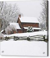 Cozy Snow Cabin Acrylic Print